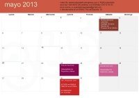 calendario 2013 mayo widget