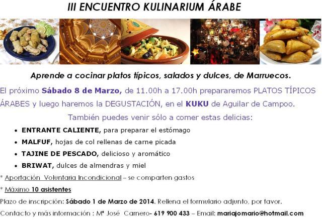 ENCUENTRO KULINARIUM ARABE_Marzo14