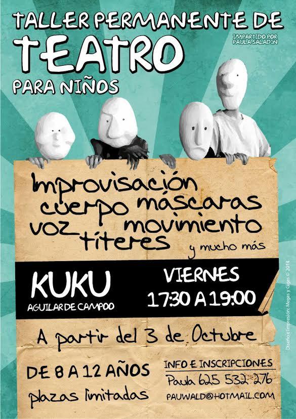 cartel Paula curso teatro niños