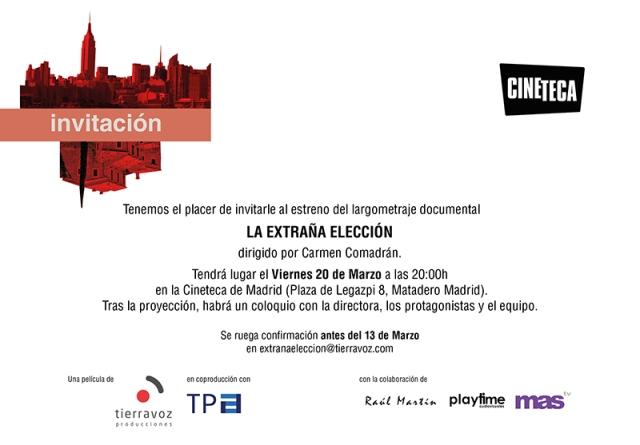 Invitacion_LaExtranaEleccion_Cineteca